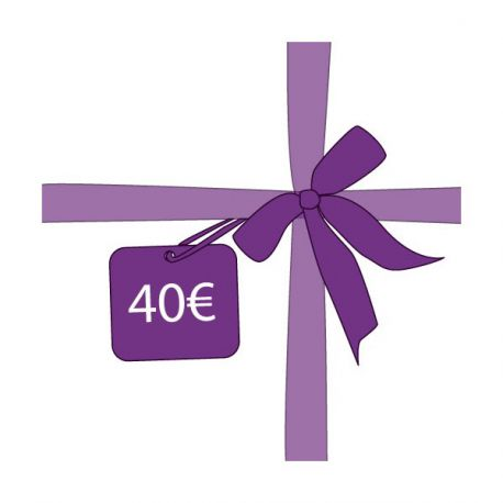 cheque cadeau bon d 39 achat de 40 euros id e cadeau. Black Bedroom Furniture Sets. Home Design Ideas