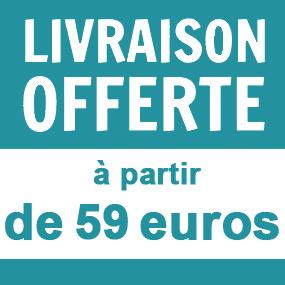Livraison gratuite à partir de 59 euros d'achat